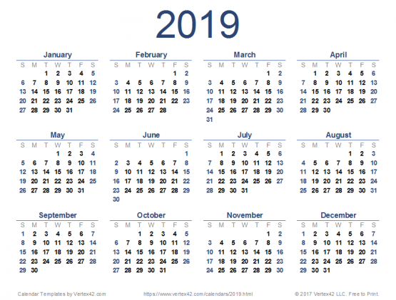 Calendrier 2019 Png.Telecharger Calendrier 2019 Pdf Doc Jpg